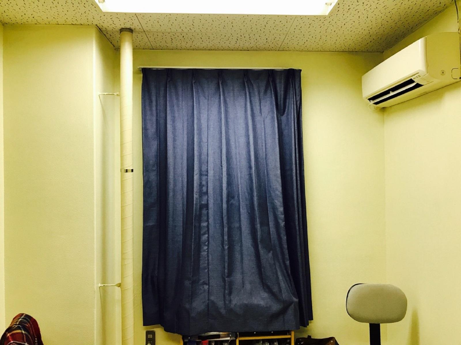 アビシニアンブルーのカーテン!
