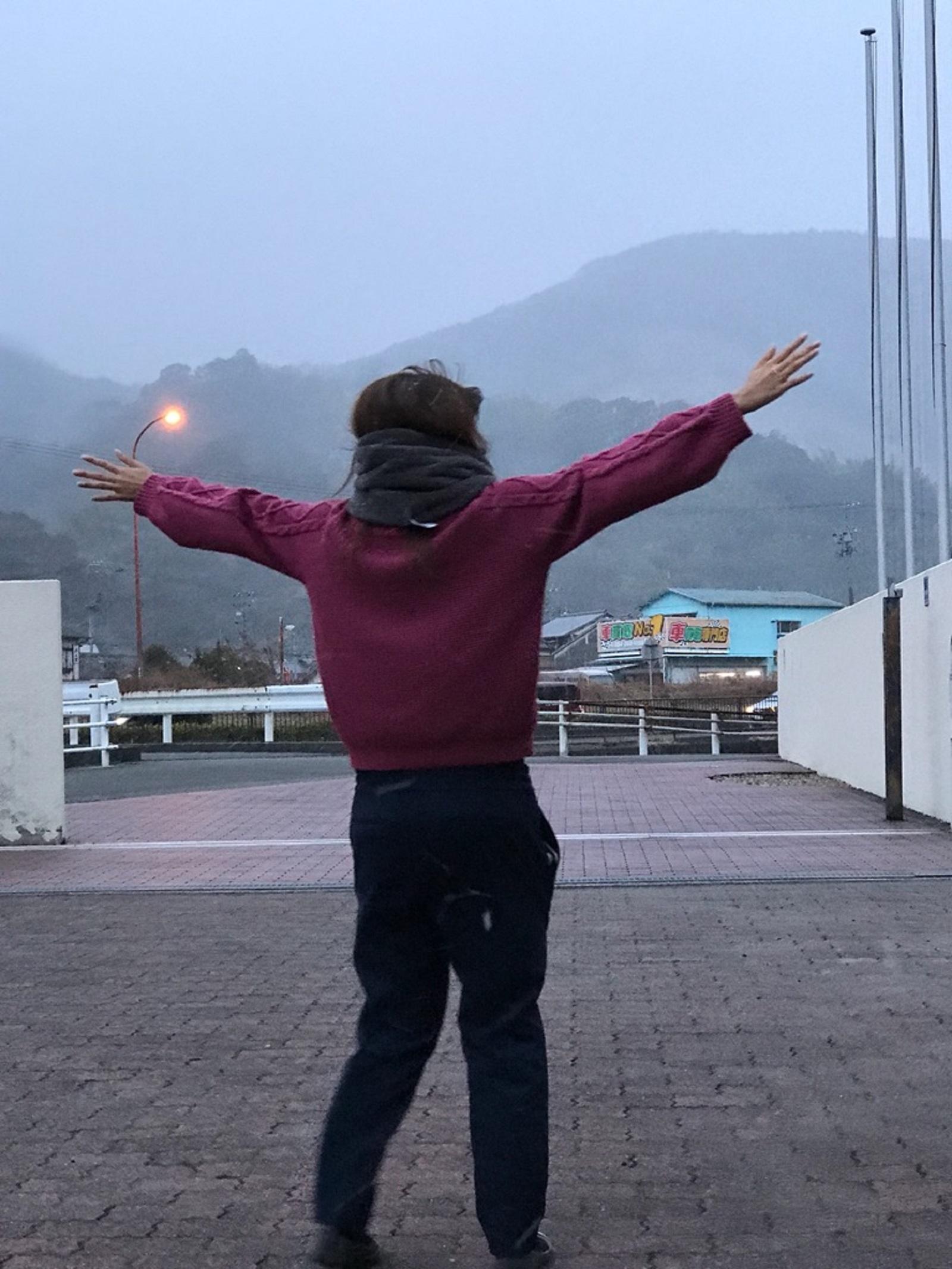 静岡県にも雪が…。